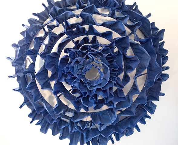 Kinetic sculpture for ceiling fan