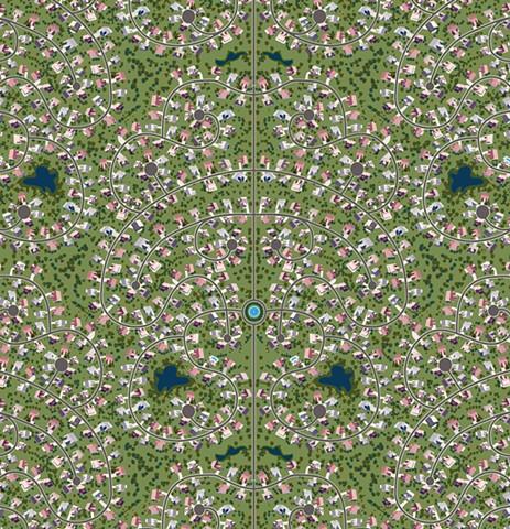 Digital illustration of subdivisions