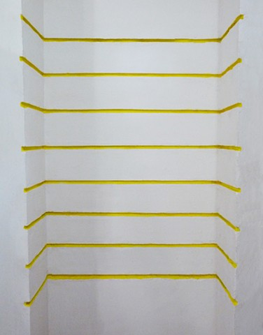 striped installation