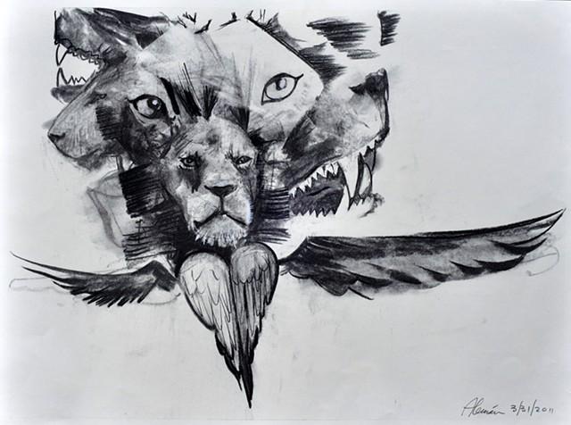 Cherubim Angel Lion