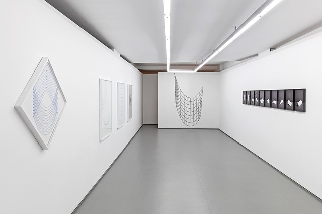 From a Straight Line to a Curve Installation view MKG127 Sept - Oct 2015