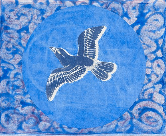 Pattern Print - Blue Moon Bird
