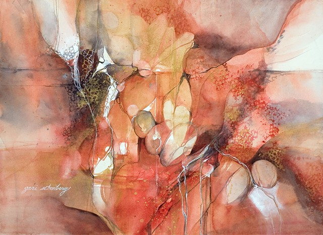 """Title: Cadence  Medium: Watercolor  Size: 30"""" x 22""""  Year: 2006"""