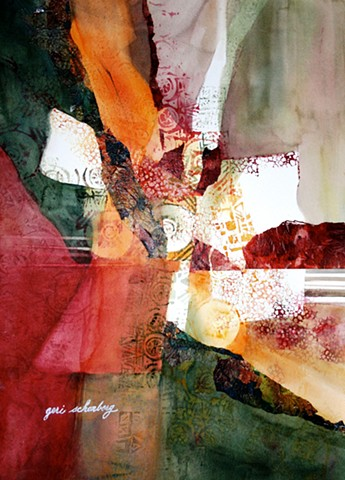 "Title: Cultural Crossroads  Medium: Mixed Media  Size: 22"" x 30""  Year: 2006"