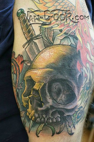 Skull and Dagger Cover-up
