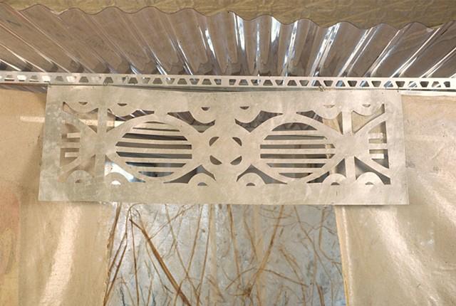 Marina Gutierrez - Casita 3 detail - aluminum filigree transom