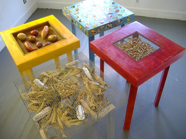 Marina Gutierrez- Persistence Of Site - Detail Tables, banquet of Americas