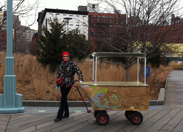 Marina Gutierrez - BoatMobile cruises up Hudson from LMCC studios on Governors Island