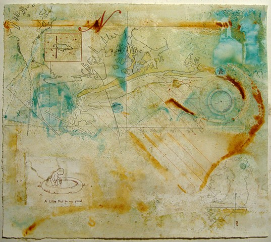 Marina Gutierrez DrawingWater 1- a little pool, 2012