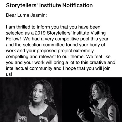 2019 Storytellers' Institute Visiting Fellow