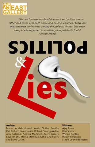 Politics & Lies Exhibition Poster