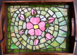 stained-glass wild roses