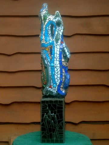 stained glass, mosaic, lake, Koocanusa,