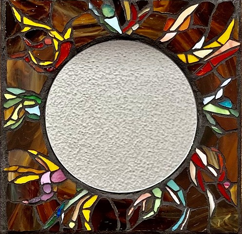 Robert Service, Yukon, stained-glass mosaic,