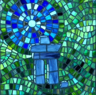 Inukshuk stained-glass  mosaics canadianart