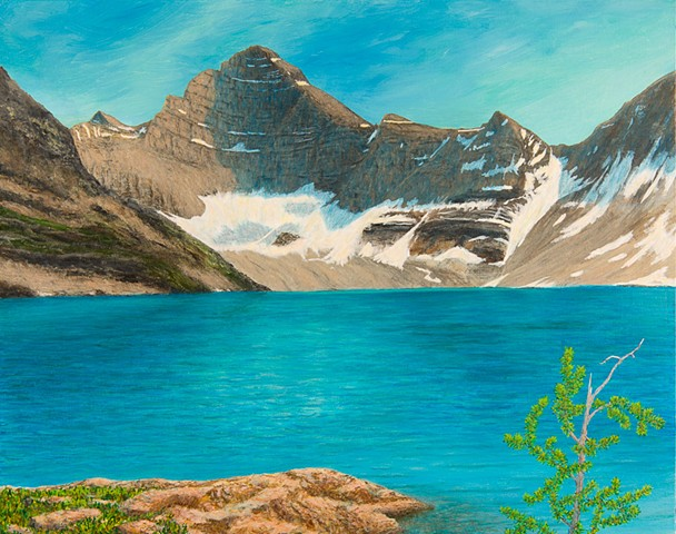 Lake McArthur, Mt Biddel, Yoho National Park, B.C., landscape painting, Rocky Mountains