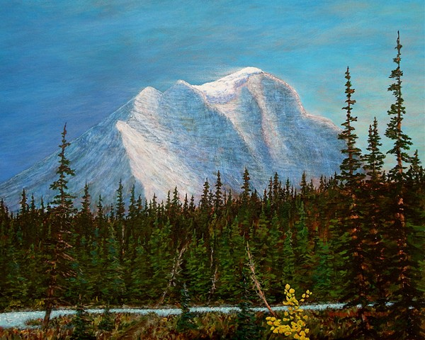 Banff National Park, Landscape Paintings, Mount Temple, Lake Louise,  Rocky Mountains
