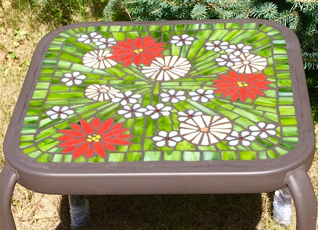 Daisies & Friends Patio Table