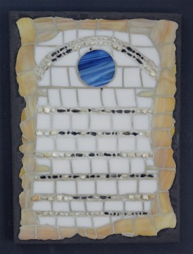 morse code, stained glass, global warming artwork conceptual art