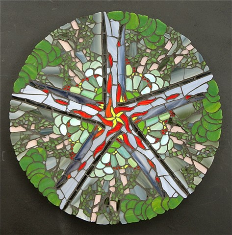stained glass mosaic mandala art