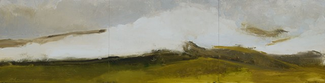 Oil painting landscape of a ridgeline in Vermont