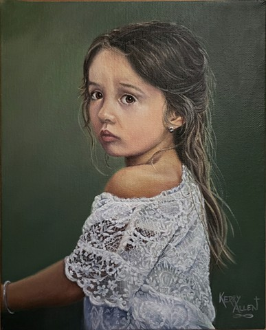 portrait, young girl, little maid, lovely child, child portrait, fine art portrait
