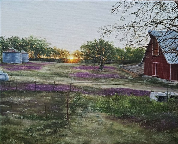 """Sunrise on Fletchall Farm"""