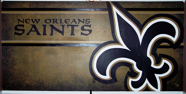 New Orleans Saints, mural, NFL, sports, football