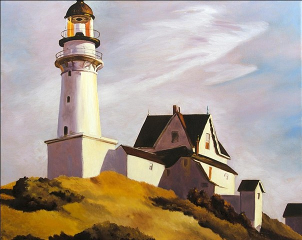 Lighthouse, seaside, landscape