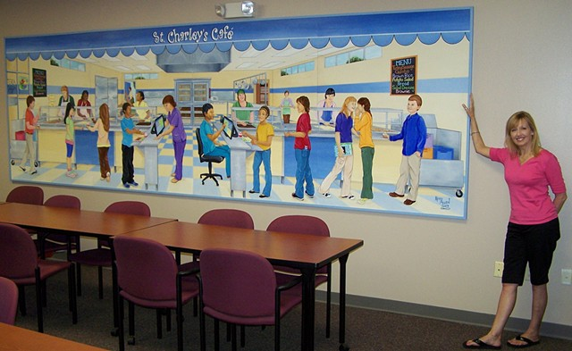 Cafeteria Serving Line Mural