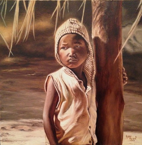 African child, Zambia, Kasempa, African colony, child of Africa