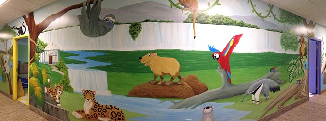 """Vineyard Hall Mural: The Seven Continents"" Page 5"