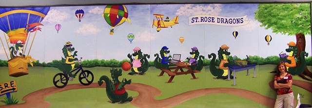Acrylic wall mural for an elementary school