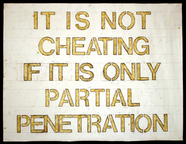 It is not cheating if it is only partial penetration.