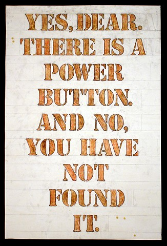 Yes, dear, there is a power button. And no. You have not found it.