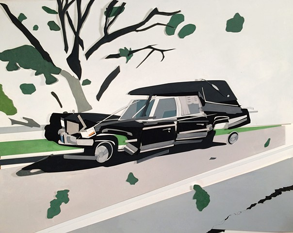 Broken Hearse and Tree