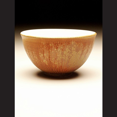 Bowl, salt fired stoneware, wheel thrown, pottery, ceramics, Paul Ide, functional, cone 10