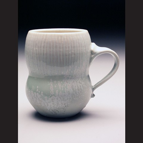 Mug, salt fired porcelain, wheel thrown, pottery, ceramics, Paul Ide, functional, cone 10