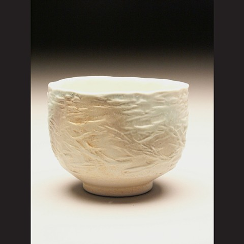 Bowl, salt fired porcelain, wheel thrown, pottery, ceramics, Paul Ide, functional, cone 10