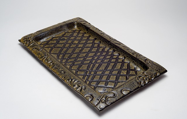 Textured Black Tray (view 2)