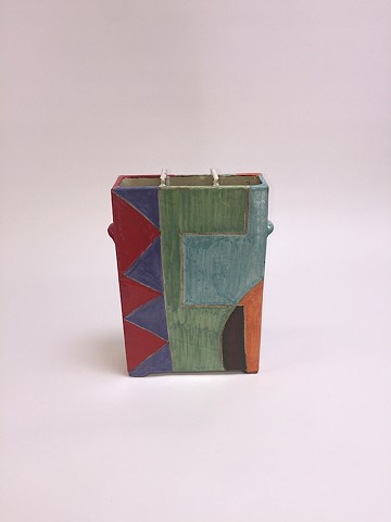 Squared Vase w/ Geometric Shapes (view 4)