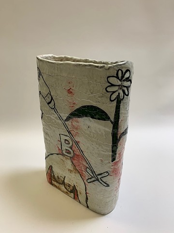 Tall Coiled Vase w/ Drawings (view 4)