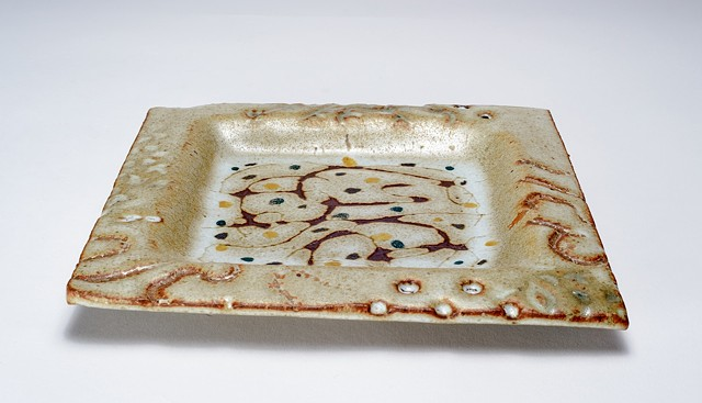 White Painted Tray (view 2)