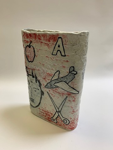 Tall Coiled Vase w/ Drawings (view 3)