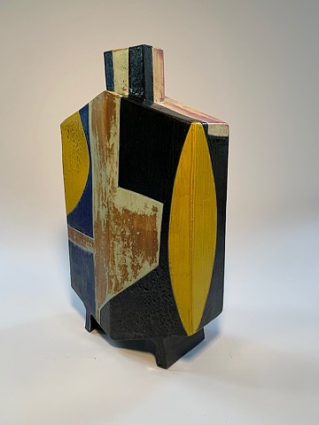 Tall Geometric Vase (view 4)