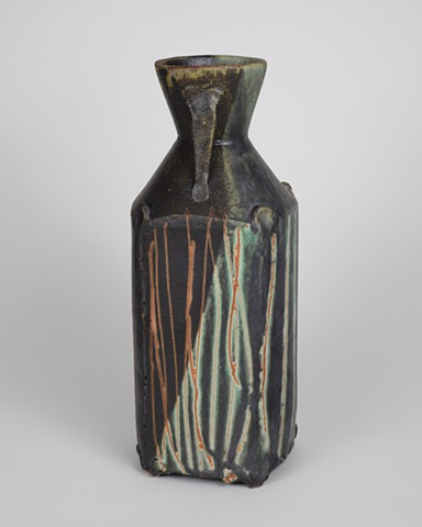 Small Black/Copper Vase (View 2)