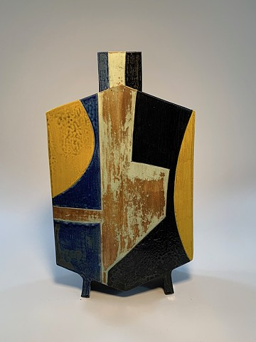Tall Geometric Vase (view 3)