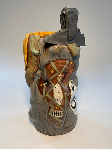 Tall Painted Vessel #1 (view 2)