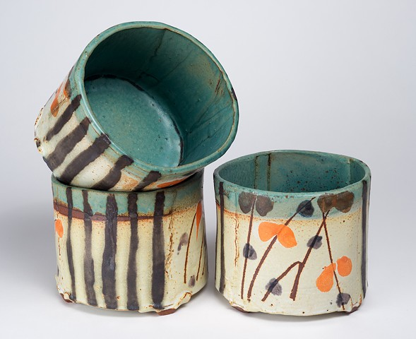 Tall Hand Drawn Bowls #3