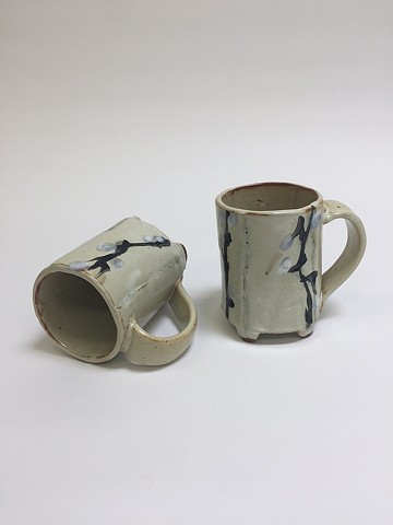 Various Hand Drawn Cups (Blue/White)